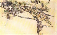 paul cezanne - Large Pine, Study (1895)