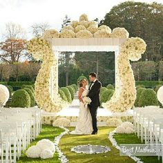 #wedding #decor #ceremony #flowers