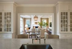 Kelly - what if there is just a slight separation between kitchen and dining/family room? this is pretty gorgeous