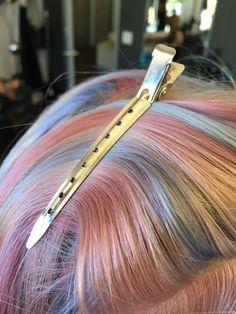 pastel hair, pink hair, blue hair, purple hair, bubblegum hair, unicorn hair. Opal hair #opalhair