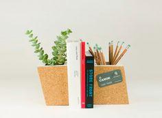 Cork Planter Bookend Set — ACCESSORIES -- Better Living Through Design
