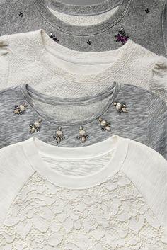 New dress lace casual sweatshirts ideas Fashion Details, Diy Fashion, Autumn Fashion, Womens Fashion, Sweatshirt Outfit, Diy Clothing, Mode Style, Fall Winter Outfits, Refashion