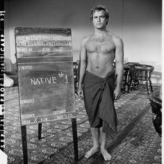 "Marlon Brando wardrobe reference for ""Mutiny on the Bounty"" (1962)."