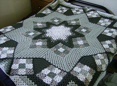 Crochet star afghan ♥️LCA-MRS♥️ with diagrams,