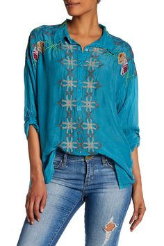 Oversized Collar Blouse by Johnny Was on @HauteLook