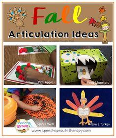 Fall Articulation: Four Fun Ideas!