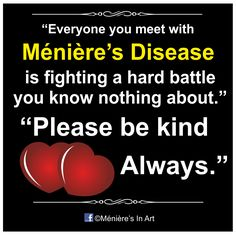 Meniere`s disease awareness..