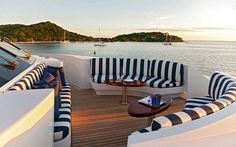 Whether docked in port or cruising through tropical waters, these vessels redefine marine chic.