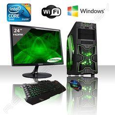 """PC DESKTOP GAMING INTEL QUAD CORE WIFI/HD 1TB SATA III/RAM 8GB 1600MHZ/HDMI-DVI-VGA/USB 2.0 3.0 SD CARD/MONITOR 24"""" LED FULL HD SAMSUNG HDMI VGA/TASTIERA E MOUSE GAMING PC FISSO COMPLETO PRONTO ALL'USO GIOCHI,UFFICIO,GAMING ITEK NINJA: Amazon.it: Informatica:"""