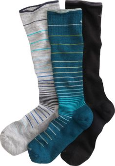Sockwell Circulator Compression Socks are the next best thing to an all-day foot massage. Moderate compression increases circulation, prevents fatigue and swelling. From Duluth Trading Company.