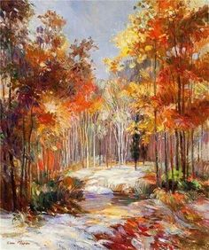 Image Collection, Autumn Leaves, Modern Art, Projects To Try, Vibrant, Wallpaper, Artwork, Beautiful, Paintings