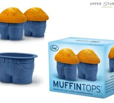 Muffin Tops Cake Moulds  $19.95  We've seen this look before, but not quite this cute. Fill these adorable jean-style cupcake pants with you...