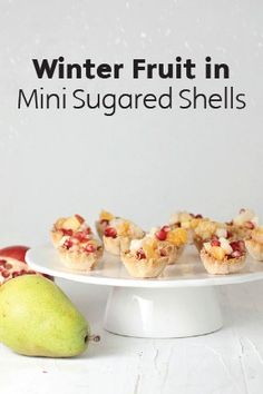 These mini pastry shells are dipped in sugar and filled with winter fruit to create decadent, bite-sized pieces of tart and sweet goodness. They are a perfect addition to any holiday party on your calendar and are so easy to put together in just 30 minutes.