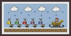 8 Bit Mario Christmas Funny Cross Stitch Pattern | Craftsy
