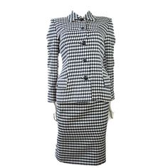 Gianni Versace Couture check wool suit | Italy, 1990's