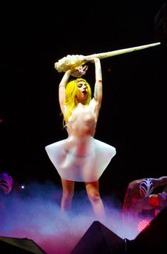 Lady Gaga, Monster Ball Tour I bet I could make this dress with the right material.