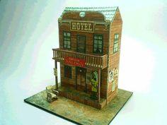 Papercraft - Saloon Red Dog | Papercraft4u | Free Papercrafts, Paper Toys, Paper Models, Gratis http://papercraft4u.blogspot.ca/2012/05/papercraft-saloon-red-dog.html