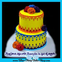 fiesta cake | mexican fiesta bridal shower cake this cake was created for a fiesta ...
