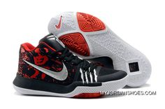 1fc55d76fd32 Nike Kyrie 3 Nike Kyrie 3 Bruce Lee Black Red Irving Basketball Shoes Copuon