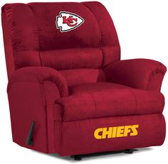 Kansas City Chiefs Big Daddy Microfiber Recliner