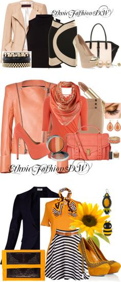 """Ethnic fashion work looks"" by demetria-washington on Polyvore"