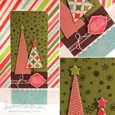 I love this chipboard trees! From Day 4- holiday card series 2011 by K. Werner.