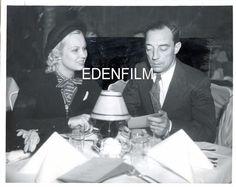 Vintage Original 8x10 Buster Keaton Betty Andre Candid Shot at Resturant 1937 | eBay