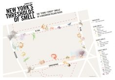 Greenwich Village Block Smell Map | Kate McLean | NY, NY | 2013