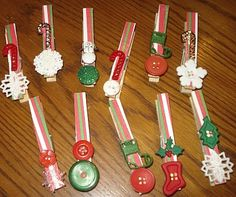 Christmasy clothespins