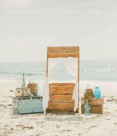 Photocall for a beach wedding
