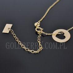 Złoty naszyjnik celebrytka kółeczko z SERCEM 438,00 zł     Indeks:NA547