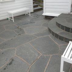 Summer House Garden, Home And Garden, Outdoor Spaces, Outdoor Living, Paving Ideas, Garden Paving, Decking, Garden Inspiration, Tile Floor