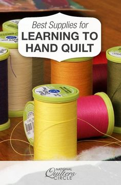 Best Supplies for Learning How to Hand Quilt | NQC #LetsQuilt