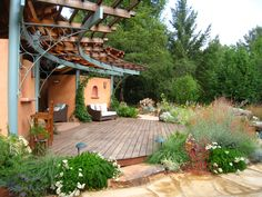 All plants are native and habitat plants at the pool house at The Melissa Garden.