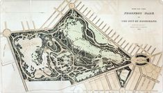 Design for Prospect Park by Frederick Law Olmstead and Calvert Vaux, ca. 1868.