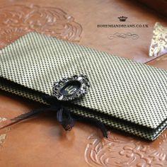 luxurious clutch wedding invitation www.bohemiandreams.co.uk