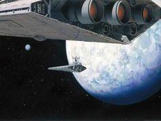 O Império Contra-ataca (1980) | A arte conceitual original de Guerra nas Estrelas é incrível