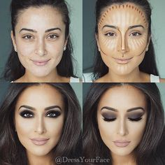 Konturieren, Hervorheben und Backen in Ihrem Make-up - Makeup Contour Beauty Make-up, Beauty Hacks, Beauty Tips, Beauty Skin, Beauty Care, Face Beauty, Allure Beauty, Luxury Beauty, Beauty Ideas