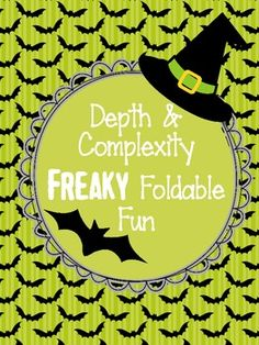 Halloween Depth and Complexity Freaky Foldable Fun: For Gifted (GATE) students Halloween Season, Halloween Gifts, Halloween Themes, Easy Halloween, 6th Grade Ela, 4th Grade Reading, Third Grade, Cube Template, Gifted Education