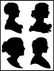 Image result for victorian woman silhouette profile