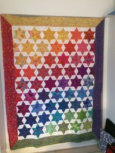 Star quilt in K Fassett fabrics