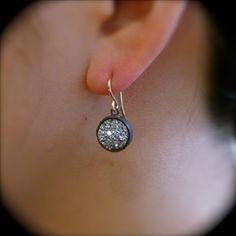 Drusy Drop Earrings by Yayoi Forest | $173