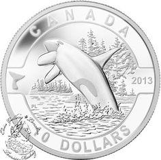 Coin Gallery London Store - Canada: 2013 $10 Orca O Canada Series 1/2 oz Pure Silver Coin, $39.95 (http://www.coingallerylondon.com/canada-2013-10-orca-o-canada-series-1-2-oz-pure-silver-coin/)