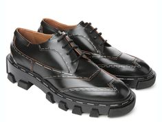 Balenciaga black derbies with decorative staples - Italian Boutique €537