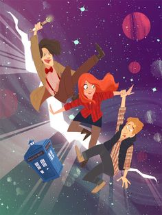 Imagem de doctor who, fanart who, and companions