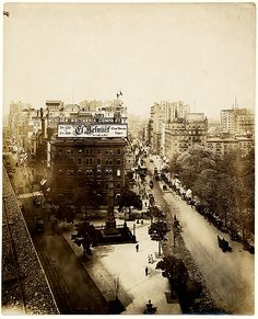[View from Above of Broadway, Fifth Avenue, and Madison Square, showing the Berlitz School of Languages Building and the Worth Monument, New York City]  R. F. Turnbull  (American, active 1890s–10s)