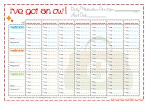 I've got an Ow free printable ... keep track of everyone's illnesses