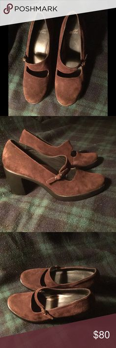 Dansko Tara 39 | Brown Suede Mary Janes Like New From Dansko's Left Bank Collection | Tara  Size 39 Mary Janes in Chocolate Brown Suede.  Never worn, only tried on. Slight scuffs to the suede from handling. Like New. Dansko Shoes Heels