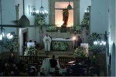 Iglesia de itzimná decorada tradicionalmente.     Fotografía: Rollo Digital