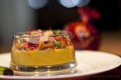 Verrine de Noël (potimarron, pain d'épices et foie gras)